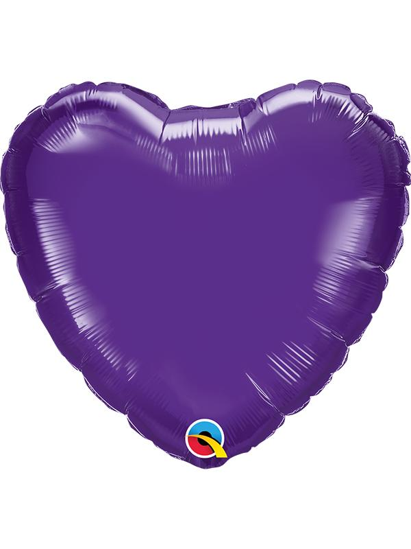 Foil Balloon Heart Quartz Purple