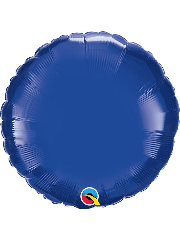 Foil Balloon Round Dark Blue