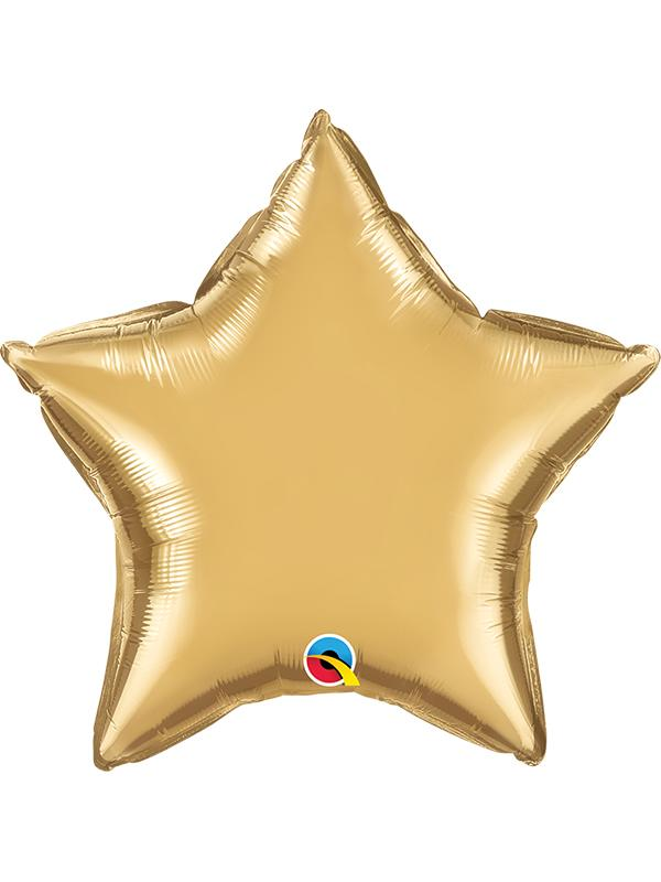 Foil Balloon Star Chrome Gold