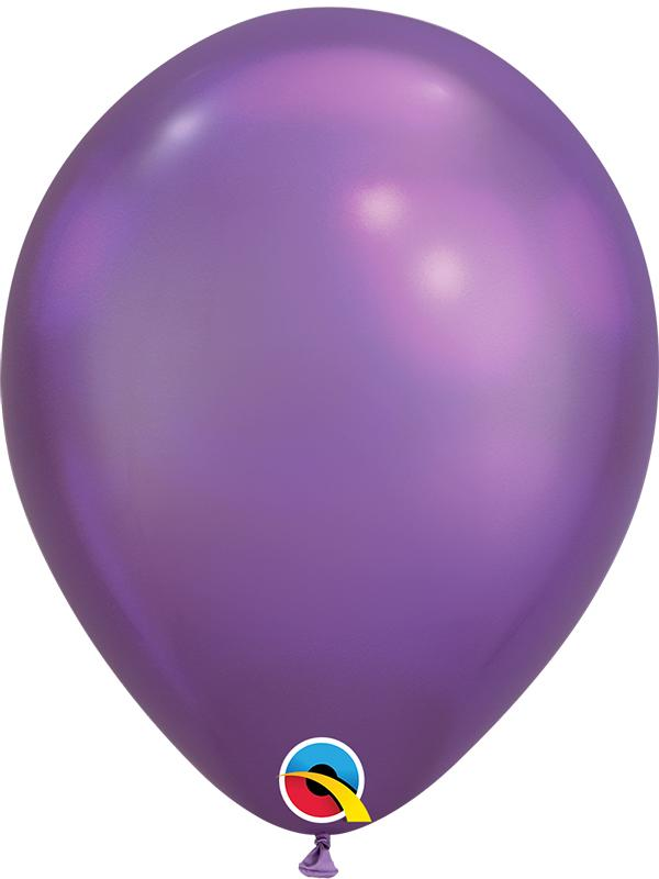 Chrome Latex Balloons Purple