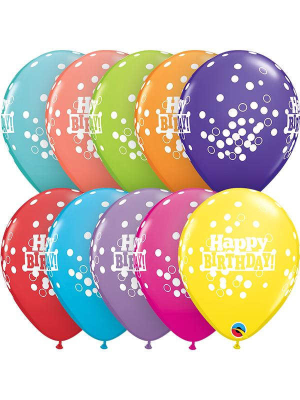 Latex Balloons Birthday Confetti Dots