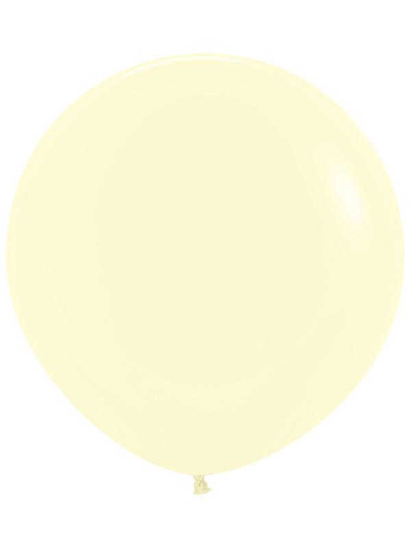 Large Latex Balloon Pastel Matte Solid Yellow
