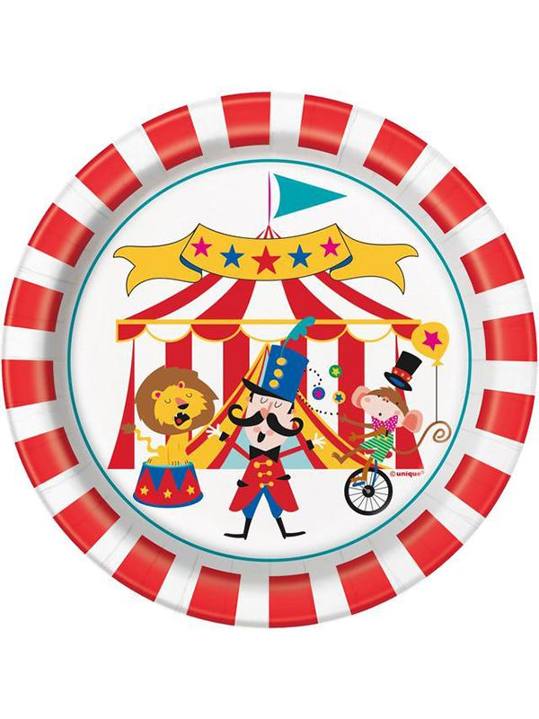 Paper Plates Circus Carnival 7 Inch