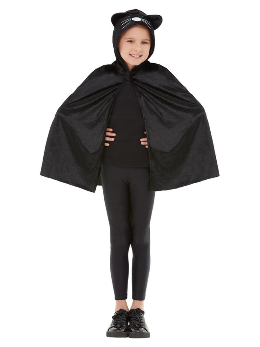 Cat Hooded Cape Black