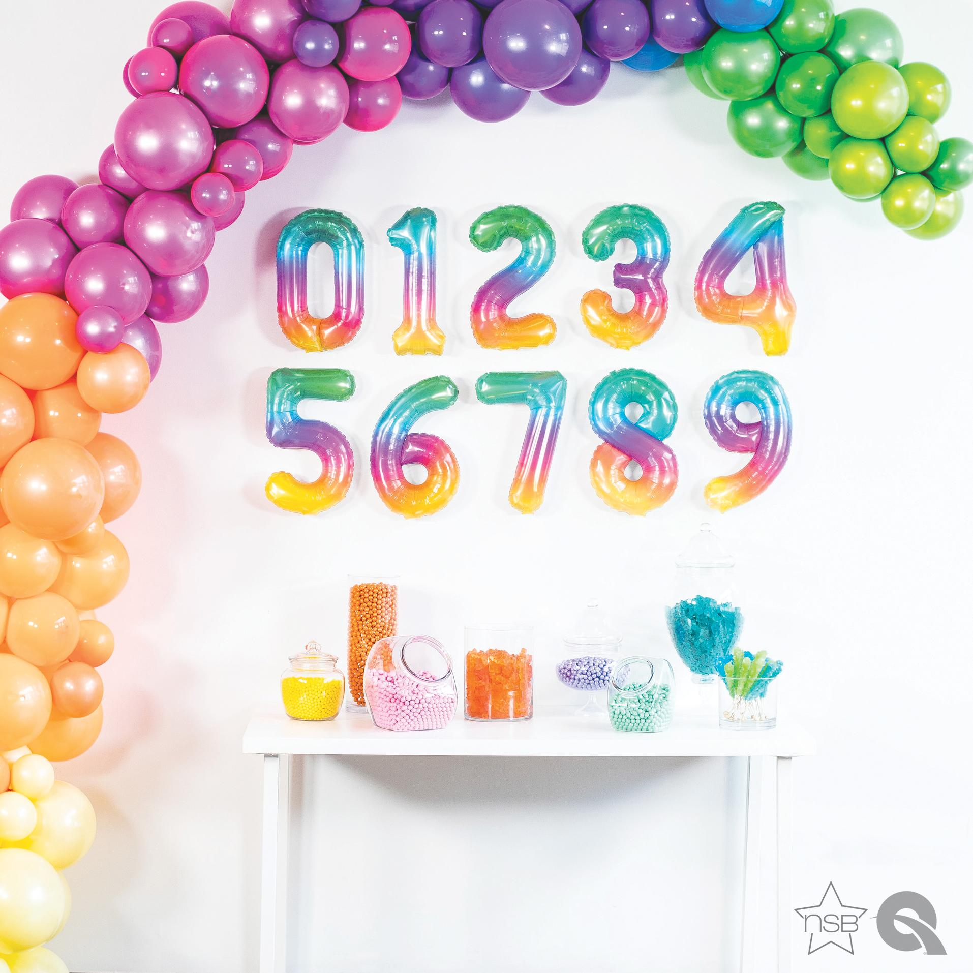 16 Inch Jelli Number Balloon