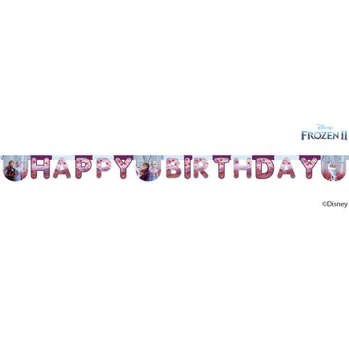 Disney Frozen 2 Happy Birthday Paper Banner