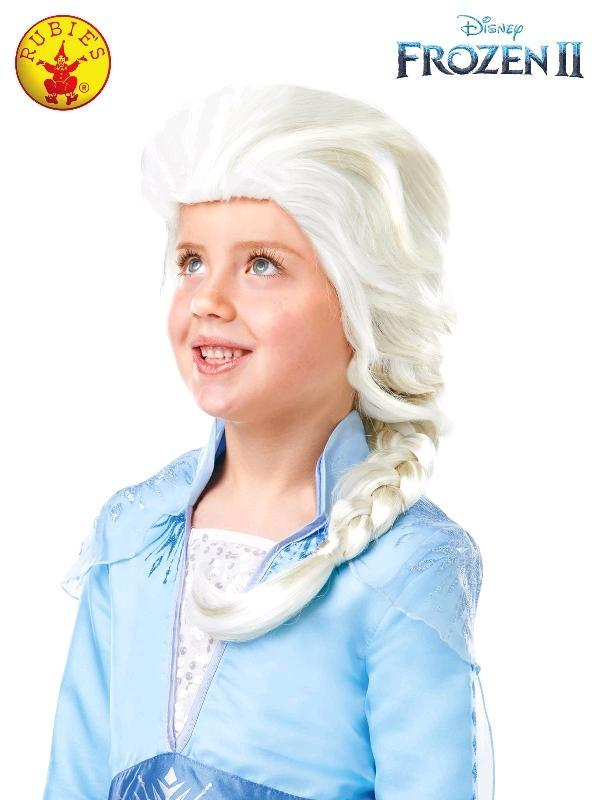 Frozen 2 Childs Elsa Wig Whte Blonde