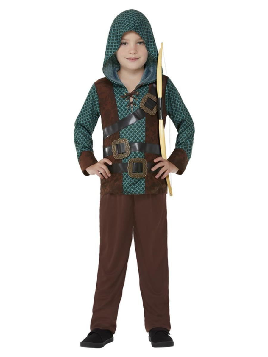 Kids Deluxe Forest Archer Boy Costume