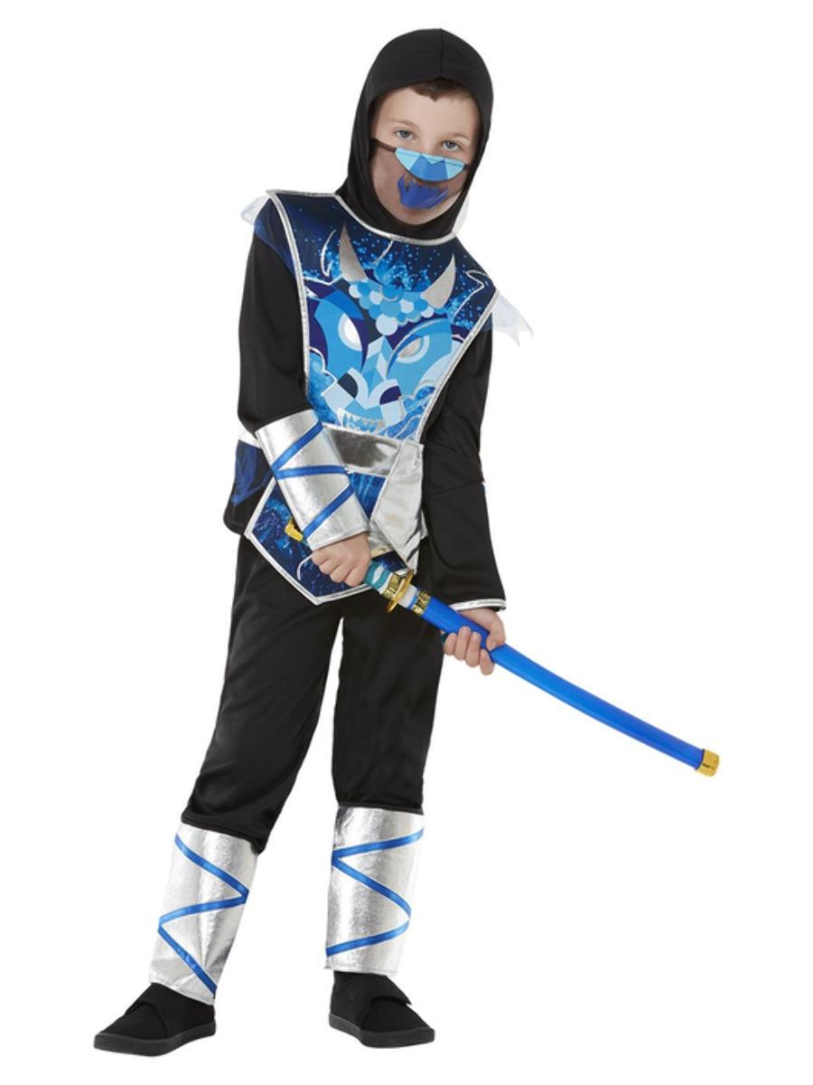 Kids Deluxe Ninja Warrior Costume with Sword
