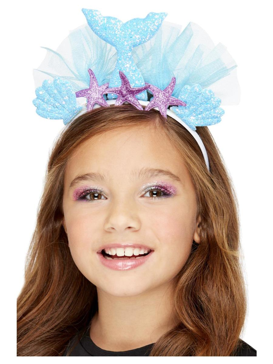Kids Mermaid Headband Blue