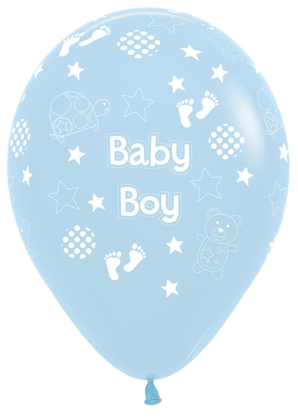 Latex Balloons Baby Boy Blue