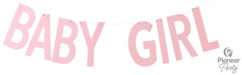 Baby Girl Banner Pink 2m