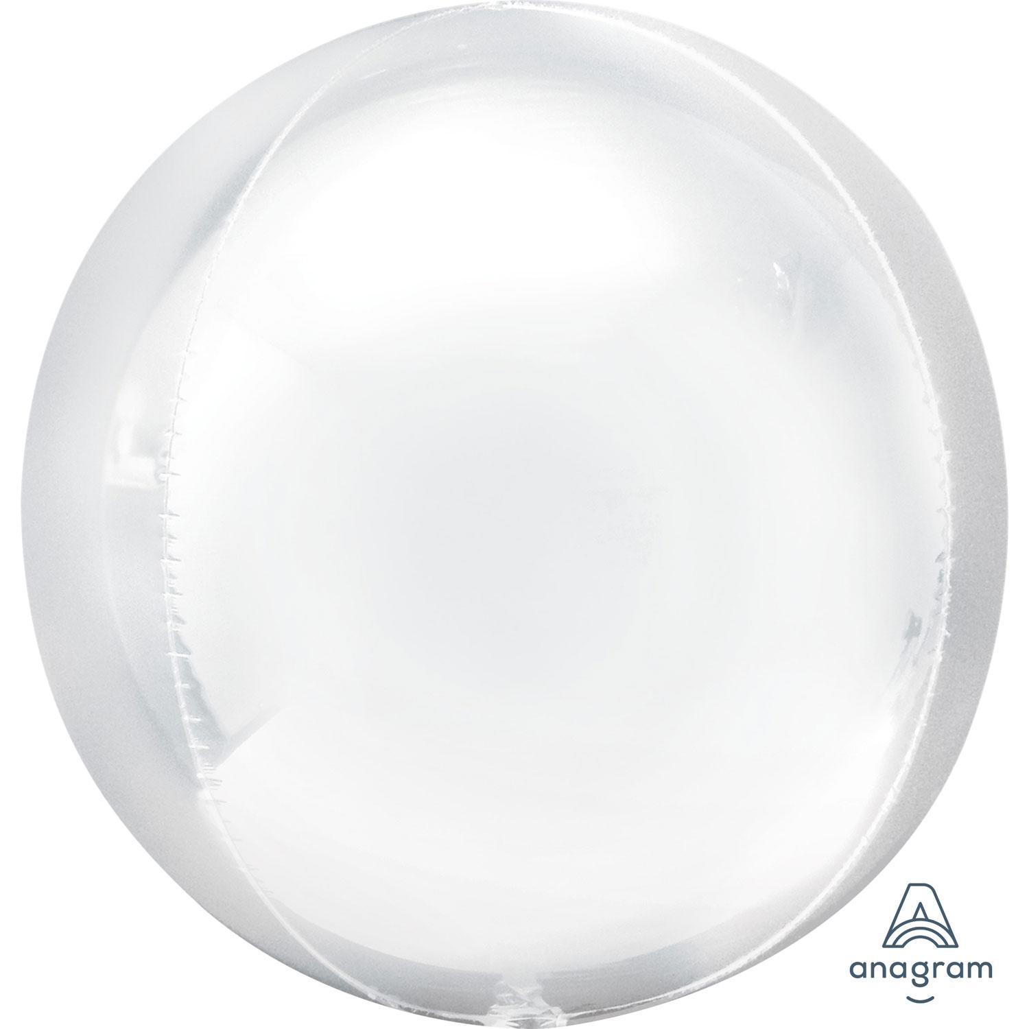 Orbz Foil Balloon White
