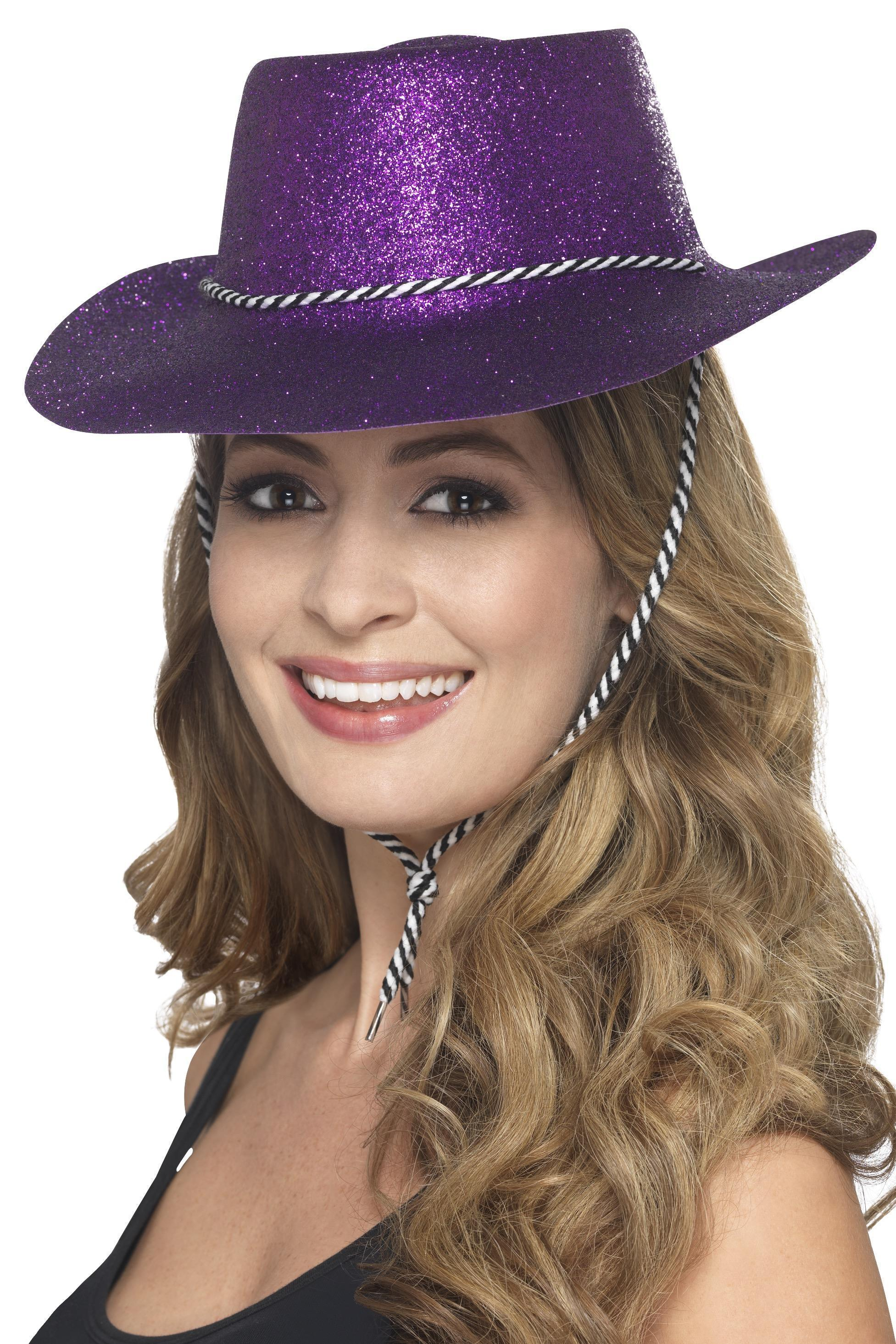 Glitter Cowboy Hat Purple