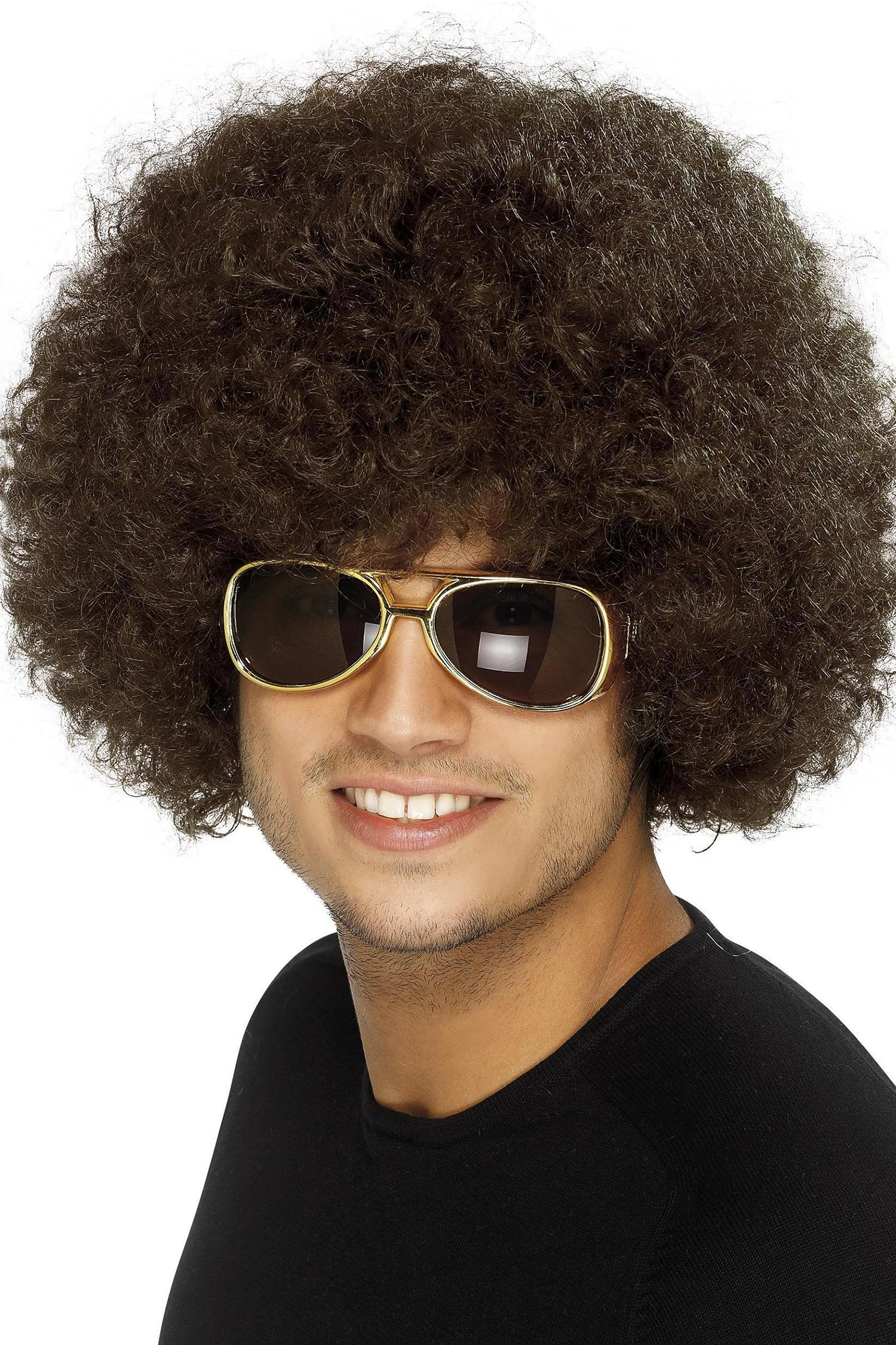 70s Funky Afro Wig Brown