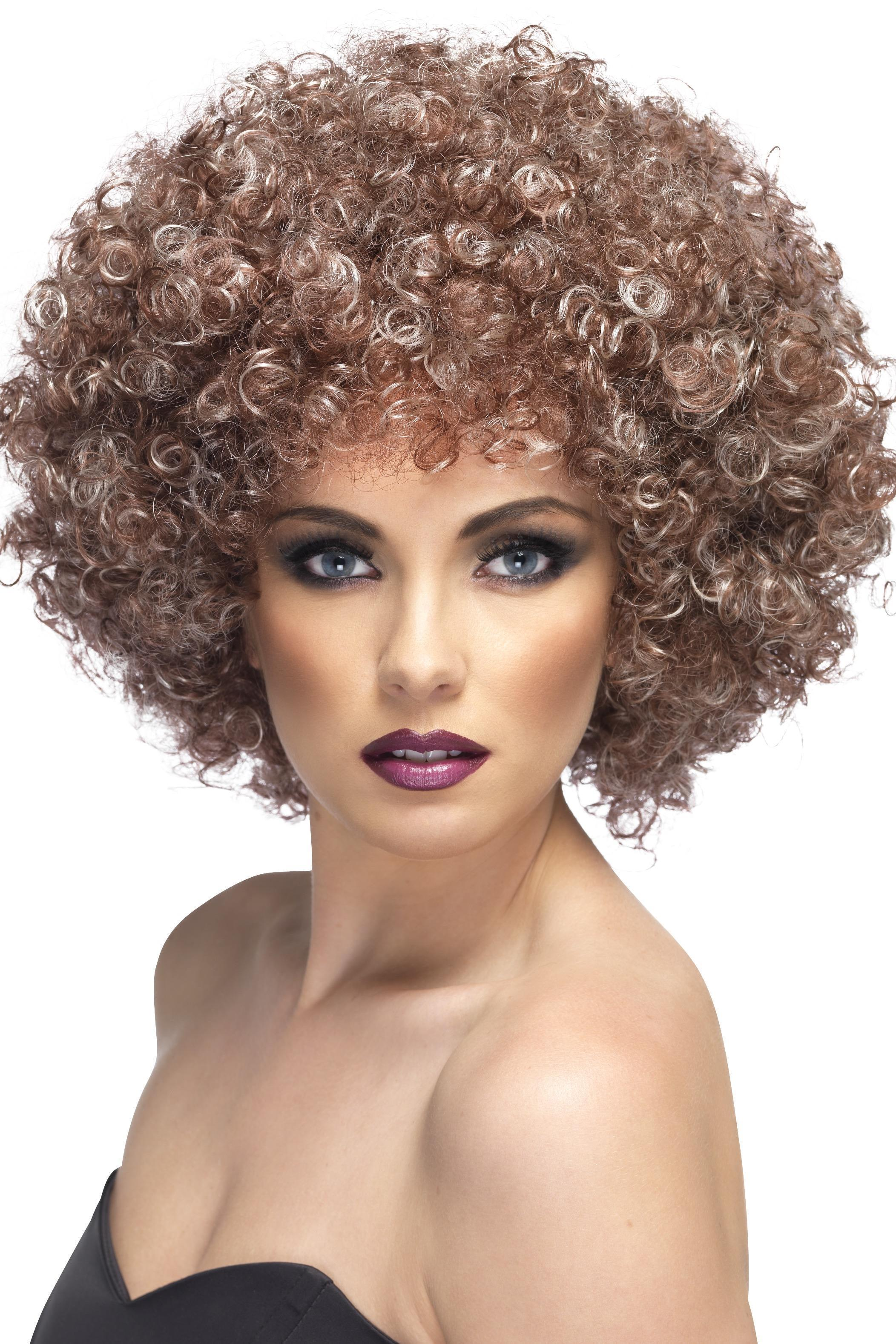 70s Afro Wig Blonde & Brown