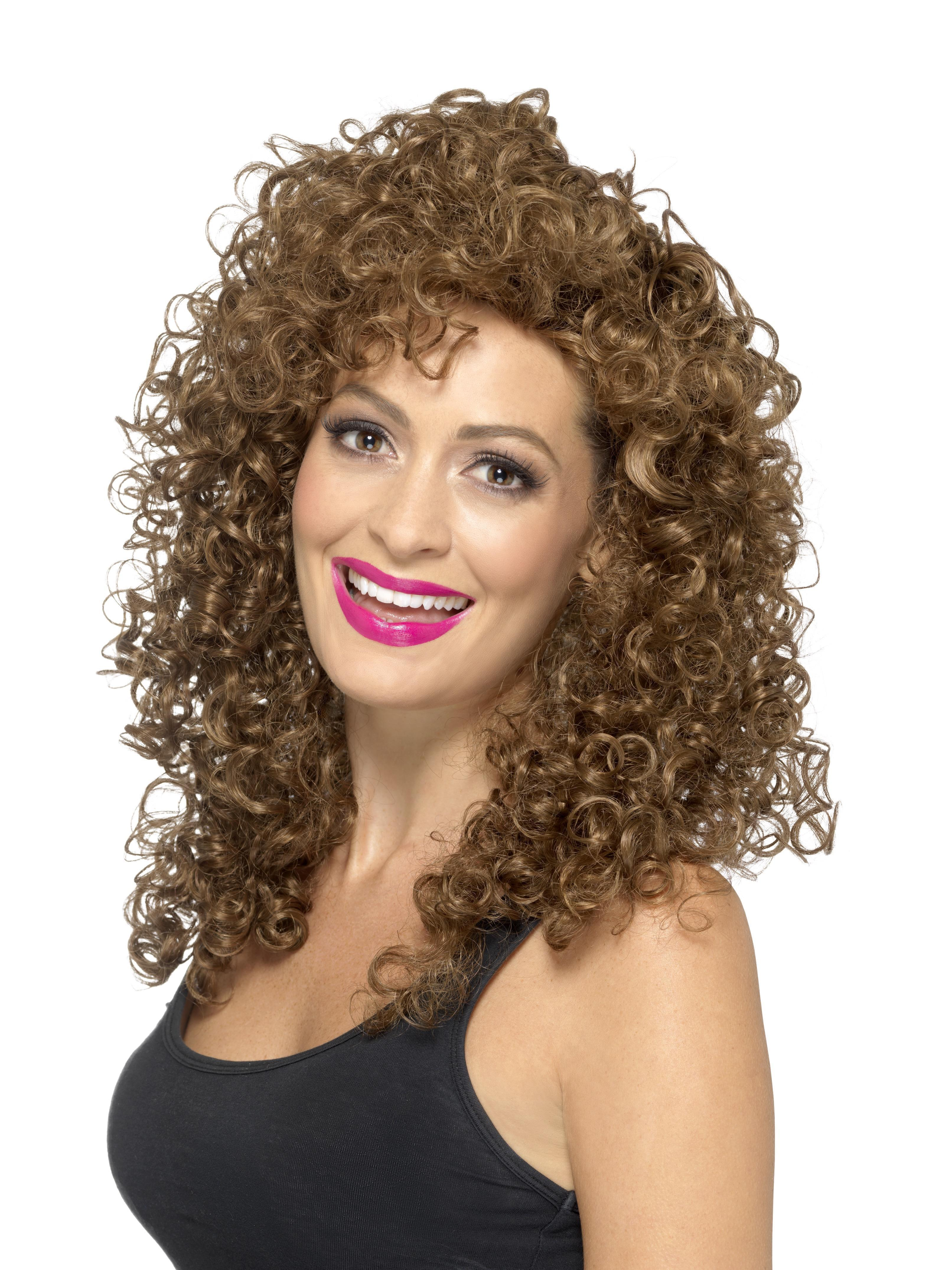 80s Boogie Babe Wig Brown