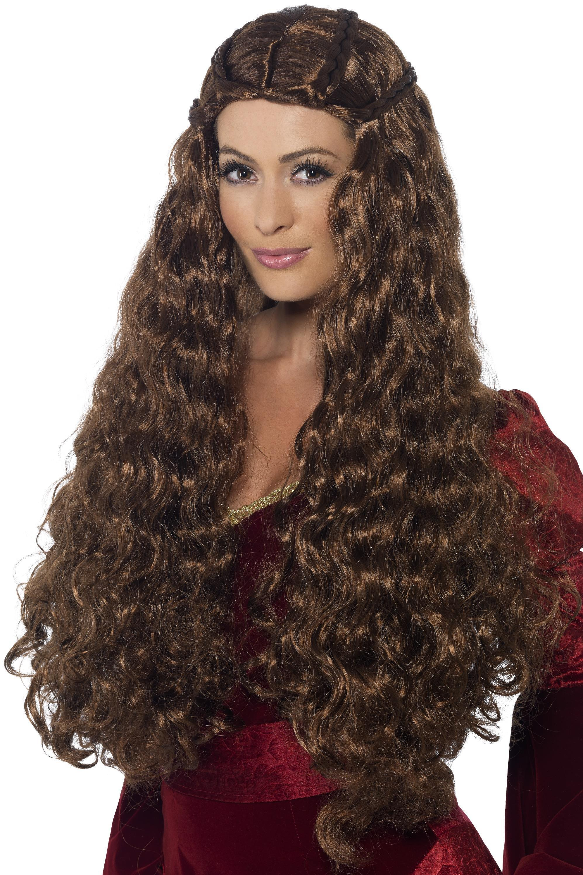 Medieval Princess Wig Brown