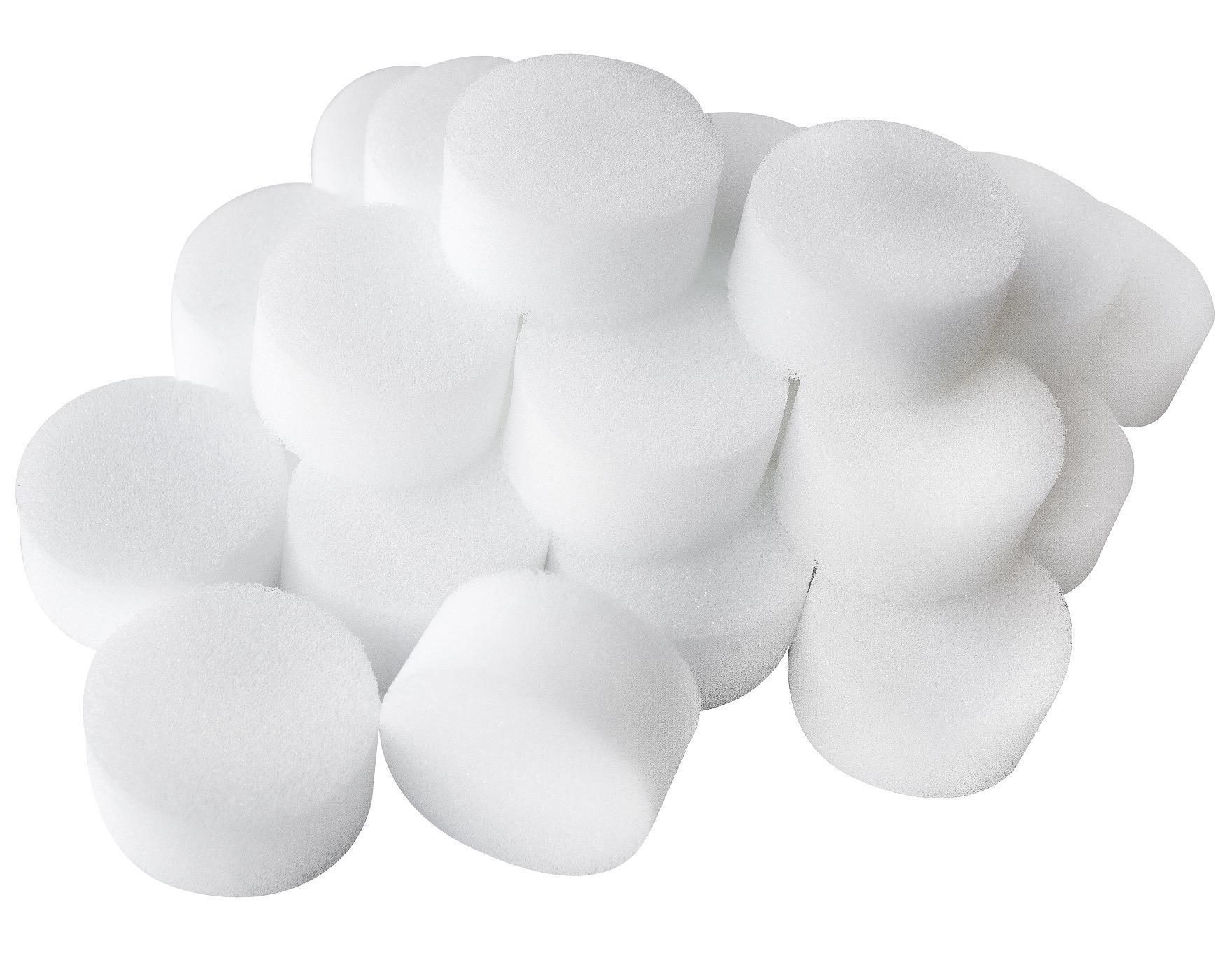 Foam Cosmetic Sponge White
