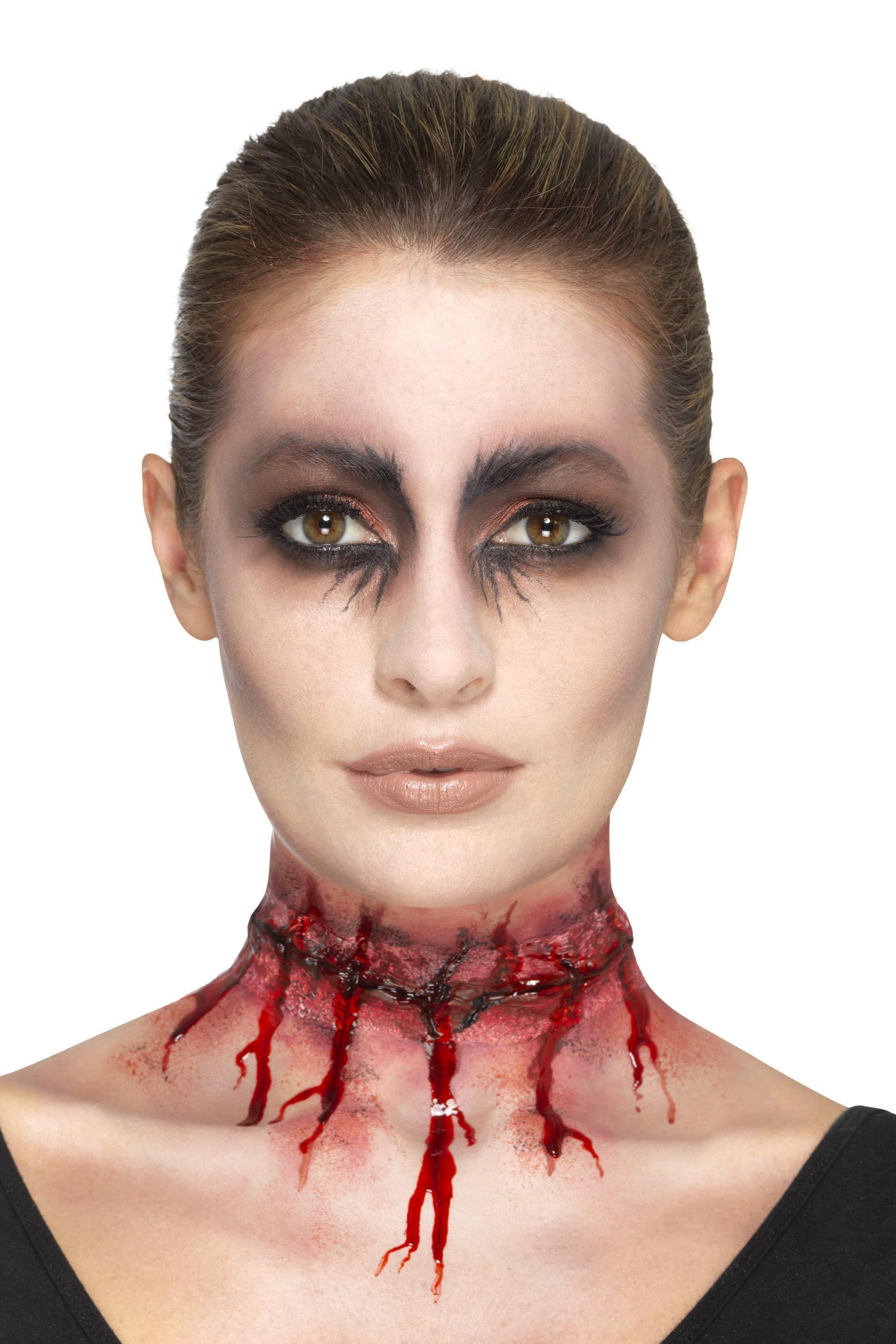 Latex Stitched Neck Scar Prosthetic