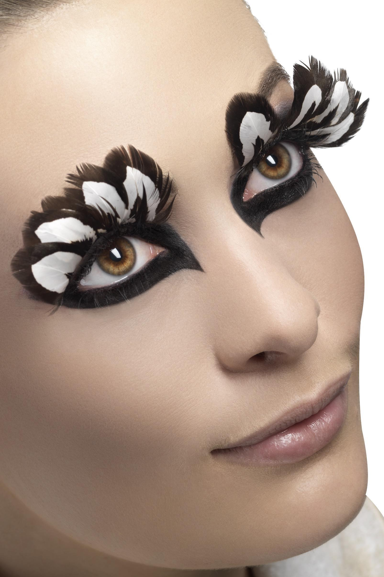 Eyelashes Feather Brown