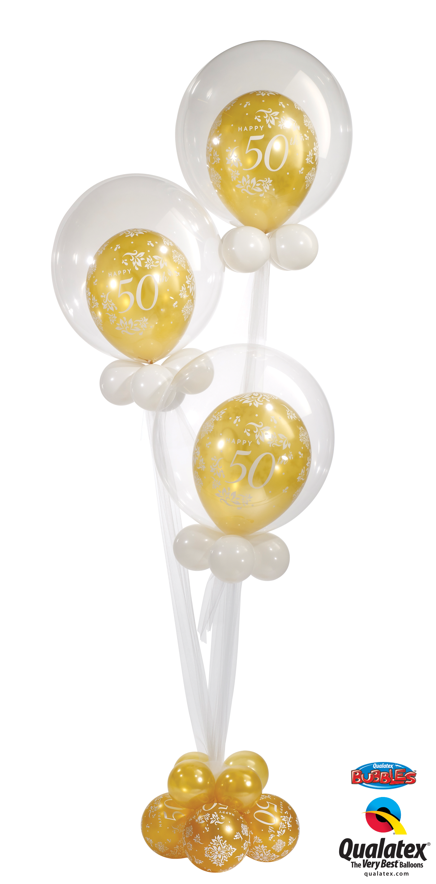Triple Celebration Deco Bubble Balloon Bouquet
