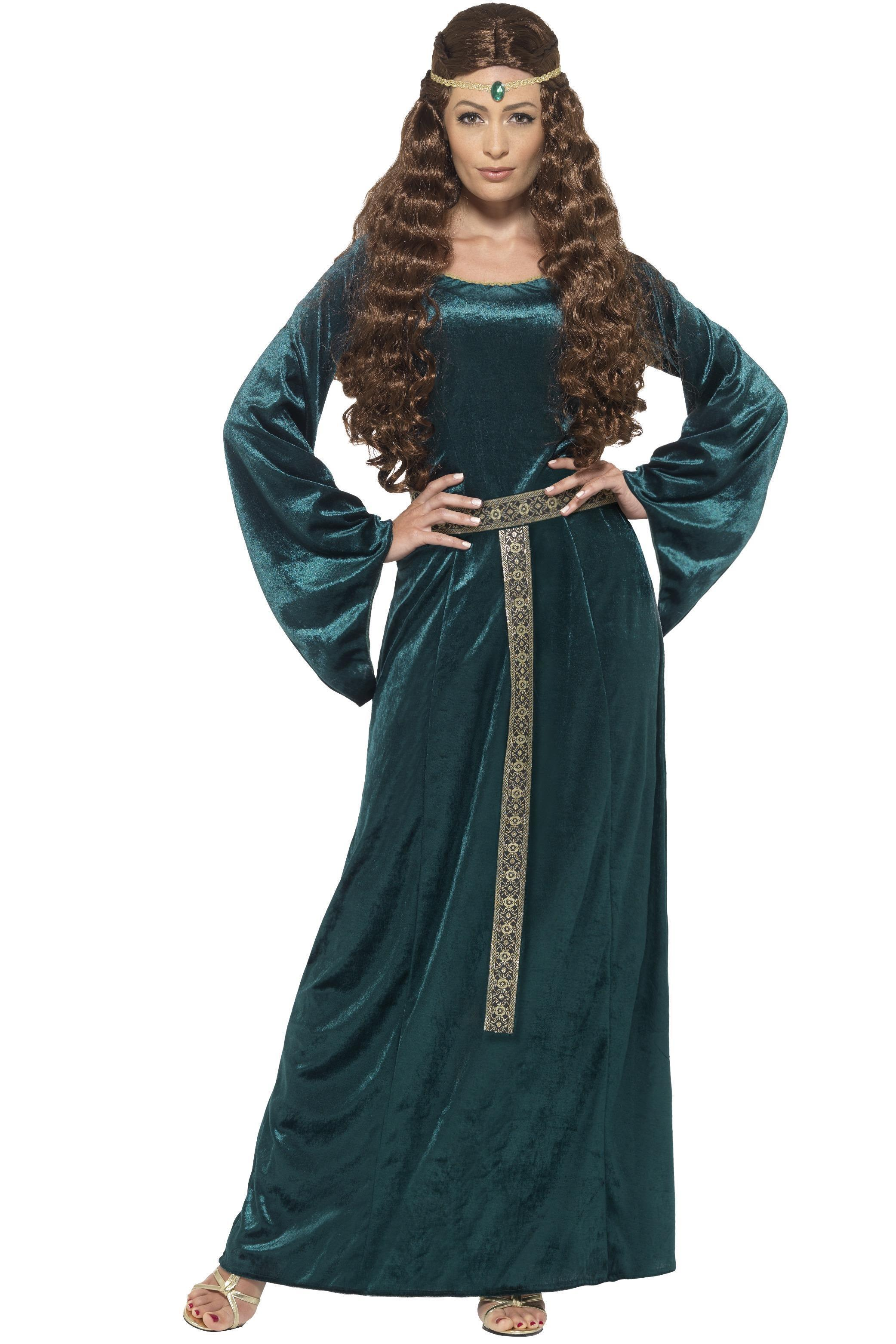 Medieval Maid Costume Green