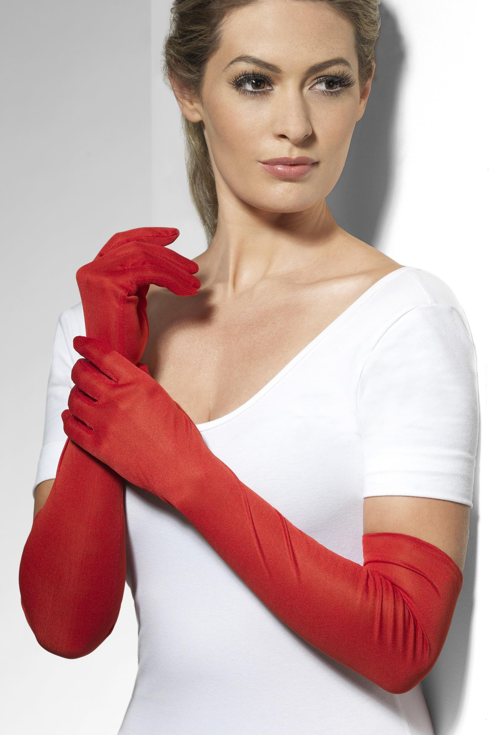 Long Gloves Red