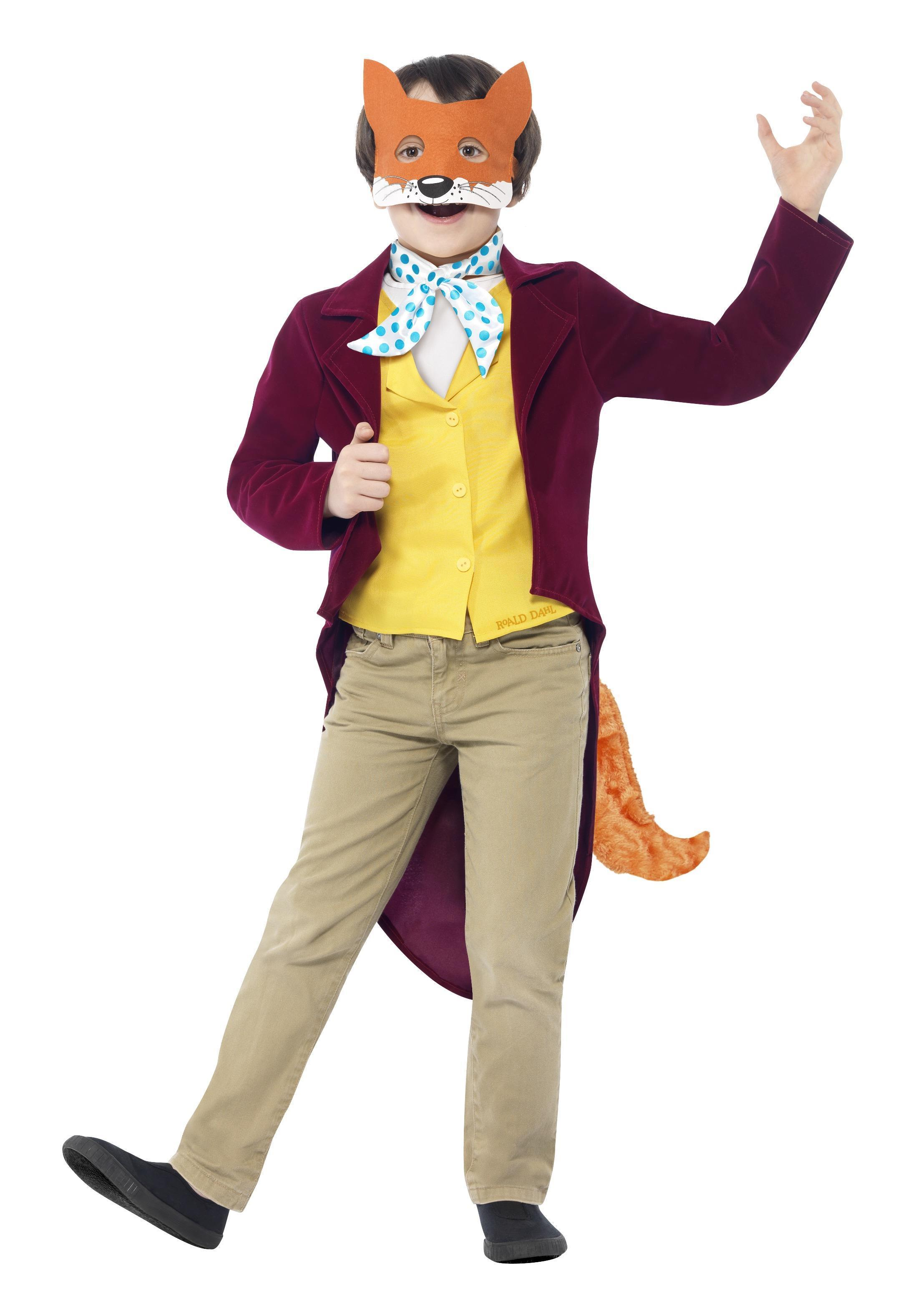 Kids Fantastic Mr Fox Costume Roald Dahl
