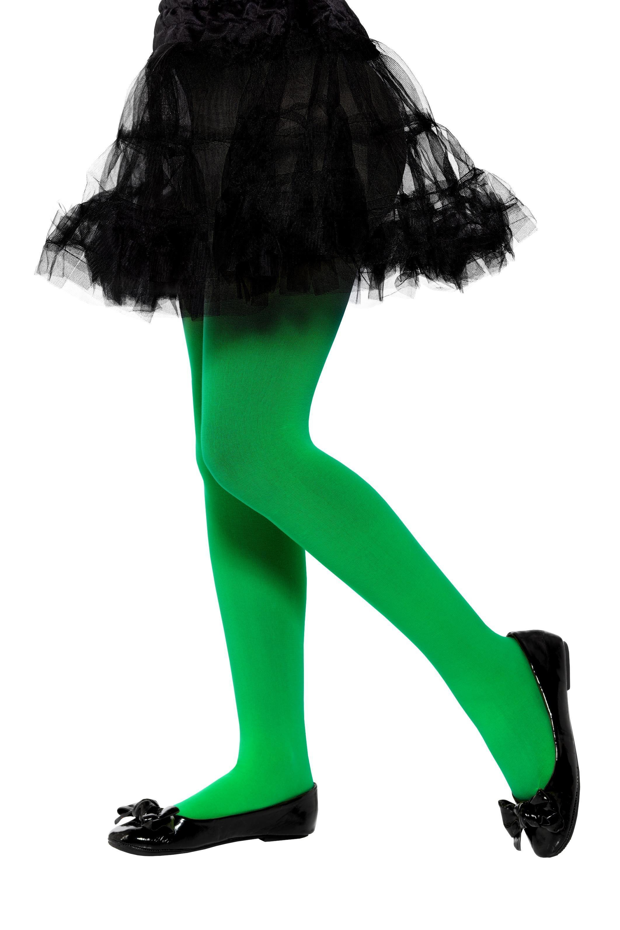Opaque Tights Green Age 6-12