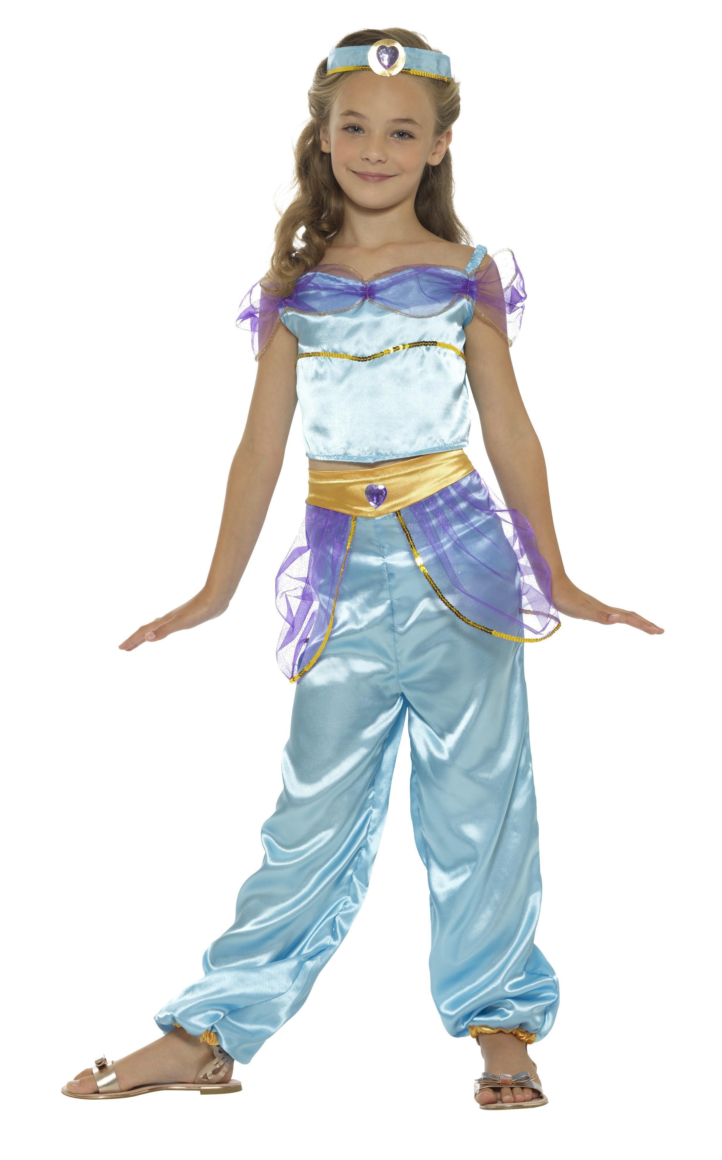 Kids Arabian Princess Costume Blue