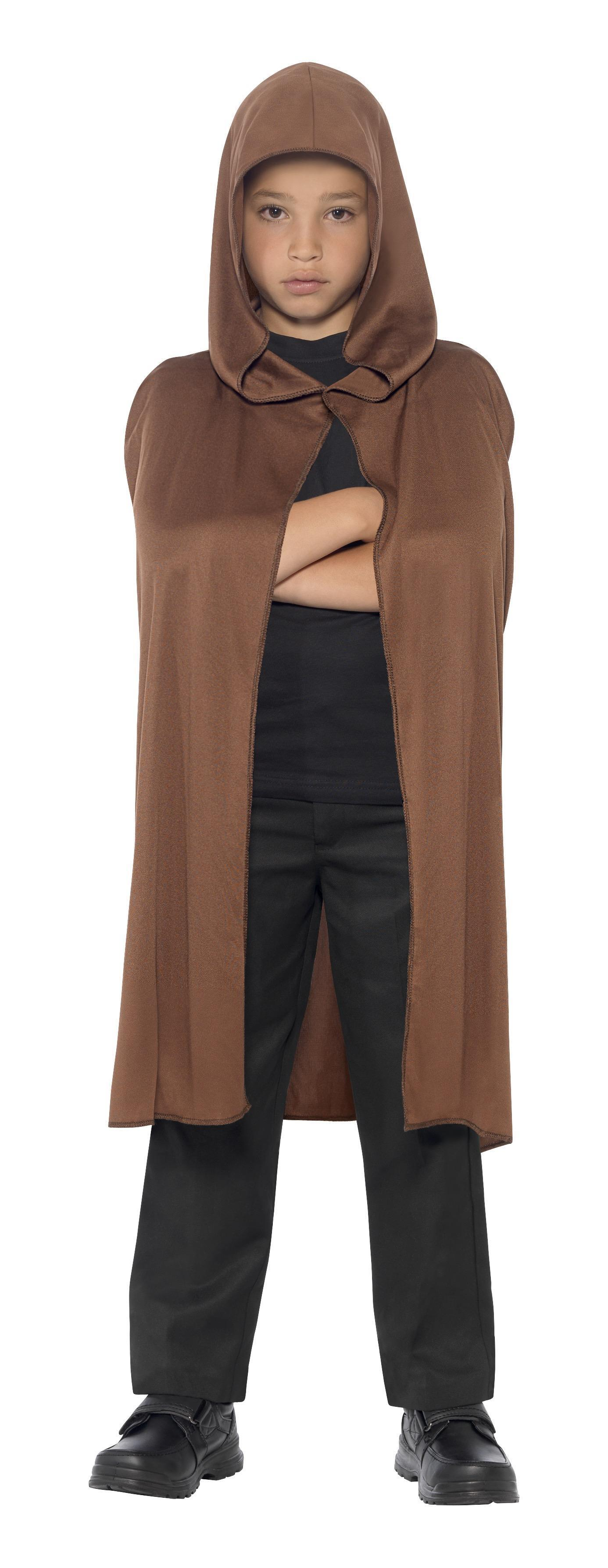 Kids Cape Hooded Brown