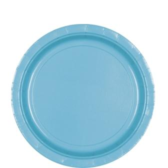 Paper Plates Caribbean Blue 8 Pack