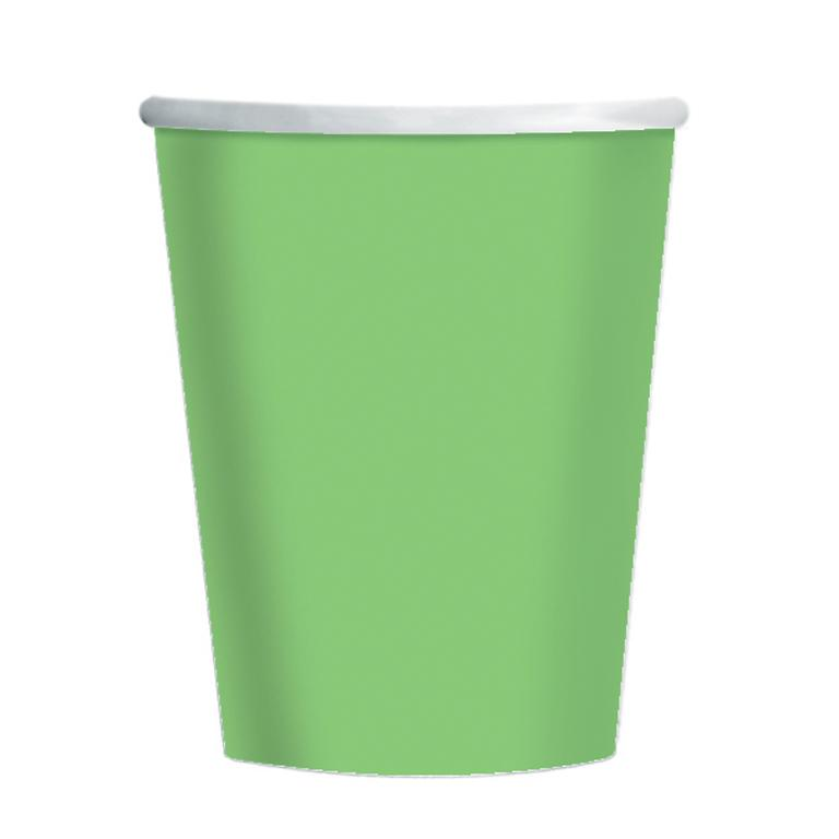 Paper Cups Kiwi Green 8 Pack