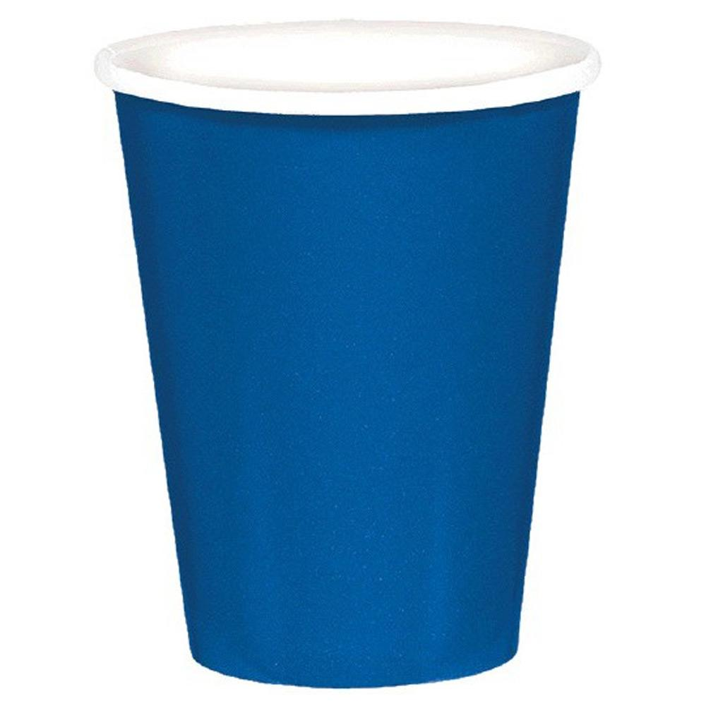 Paper Cups Royal Blue 8 Pack
