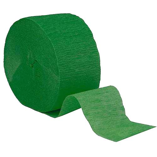 Crepe Streamer Roll Holiday Green