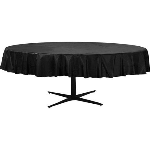 Table Cover Apple Black Round