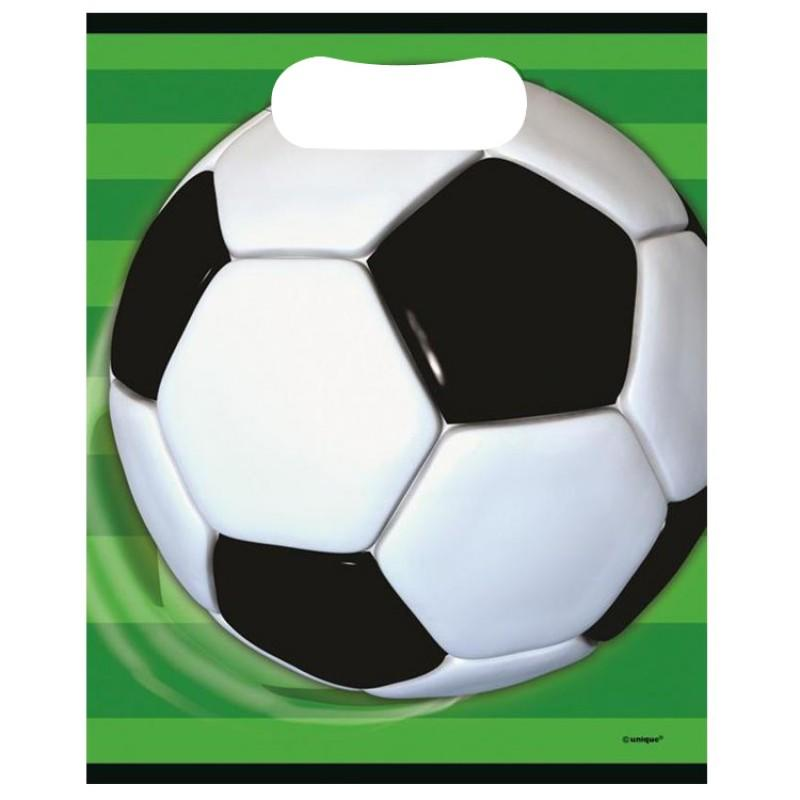 Plastic Party Loot Bags Soccer Football