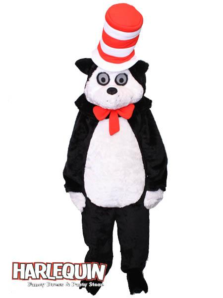 Cat in the Hat Mascot Hire Costume