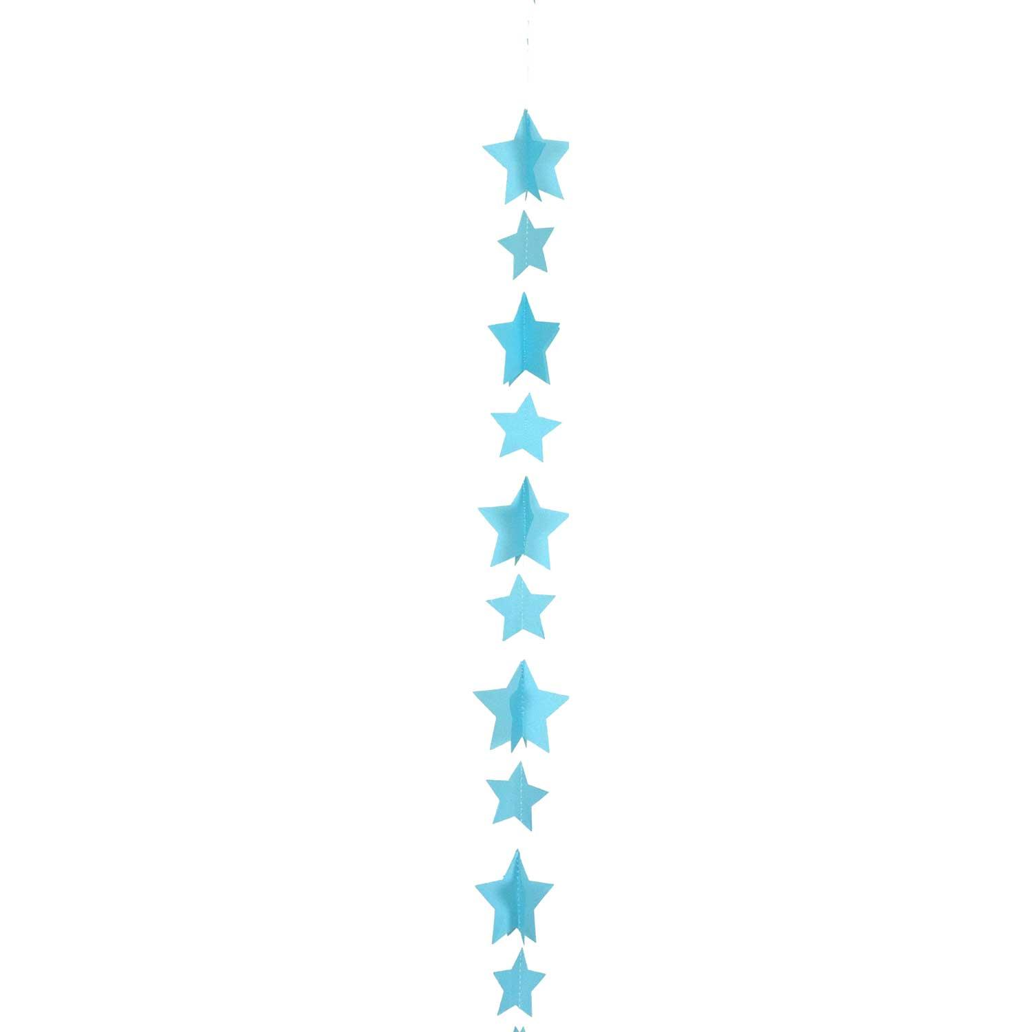Balloon Tail String Stars Blue