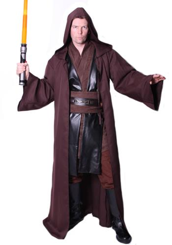 Jedi Style Brown Hire Costume