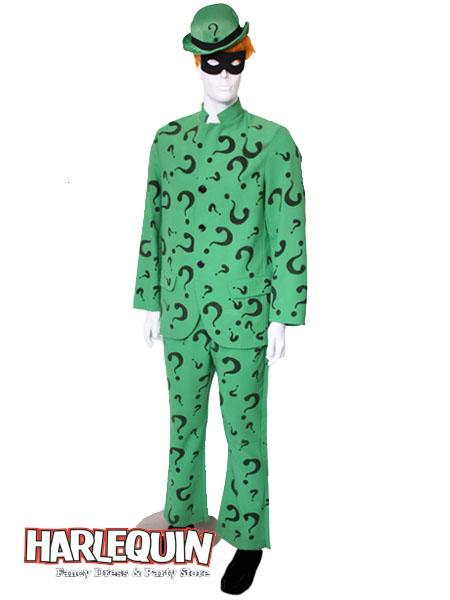 Riddler Style Hire Costume