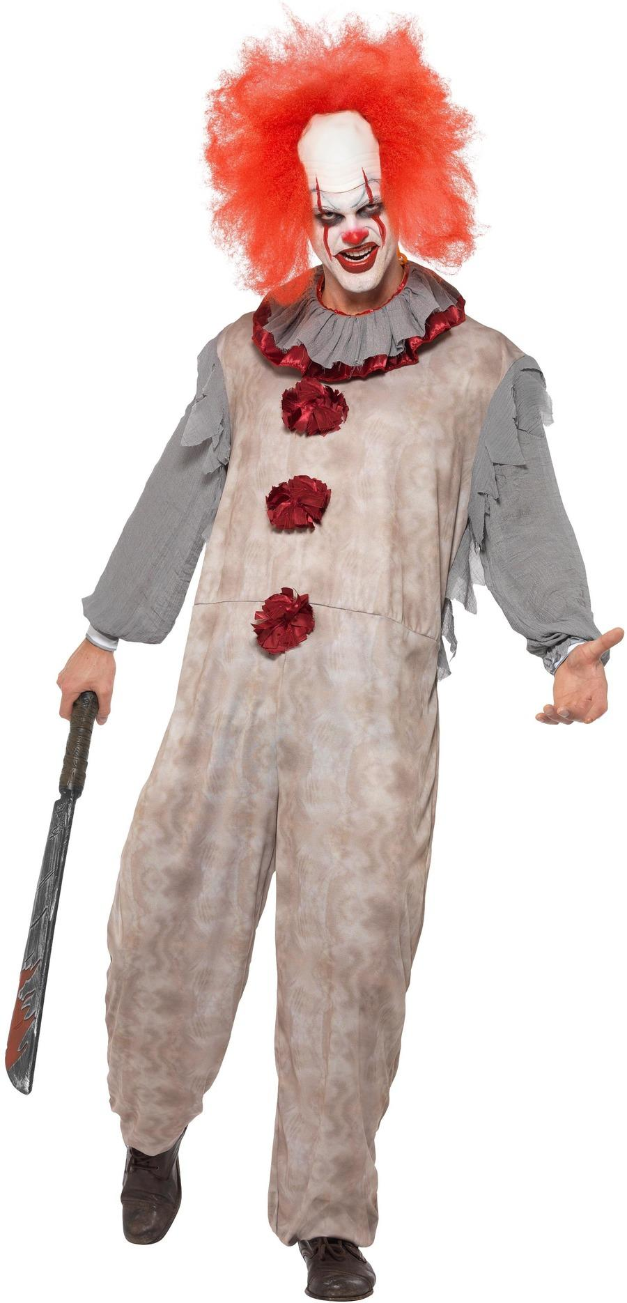 Vintage Clown Costume Adult Male