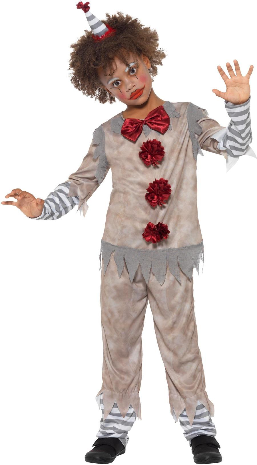 Kids Vintage Clown Boy Costume