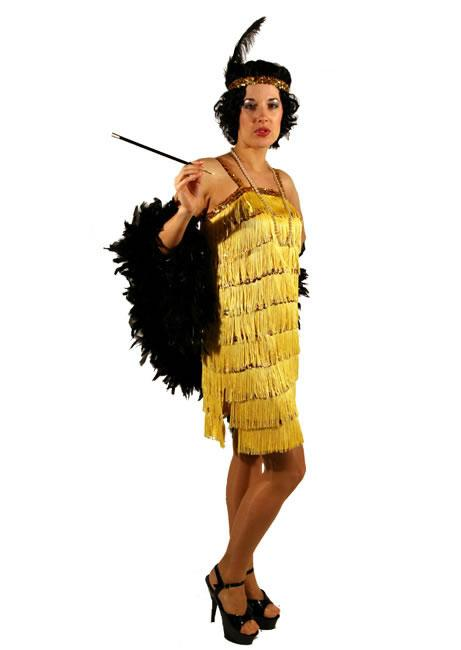 1920s Flapper Yellow Hire Costume
