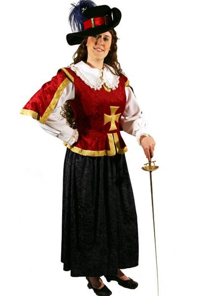 Musketeer Lady Hire Costume