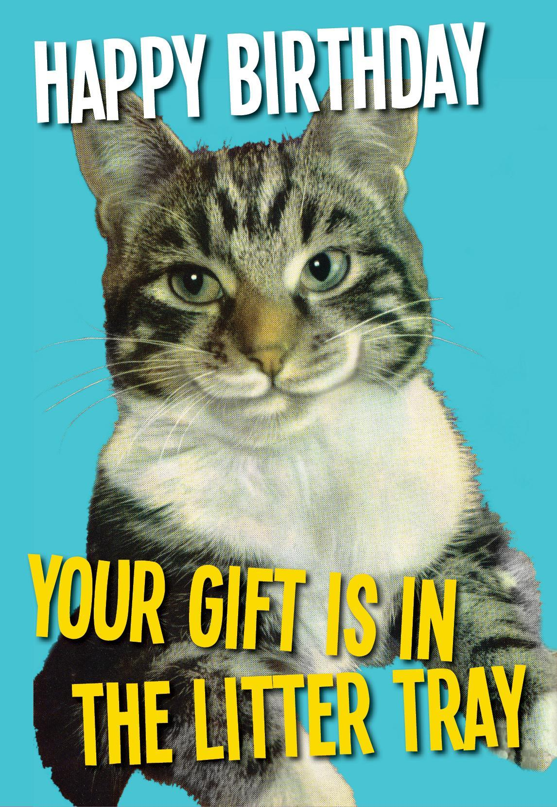 Your Gift Is In The Litter Tray Card