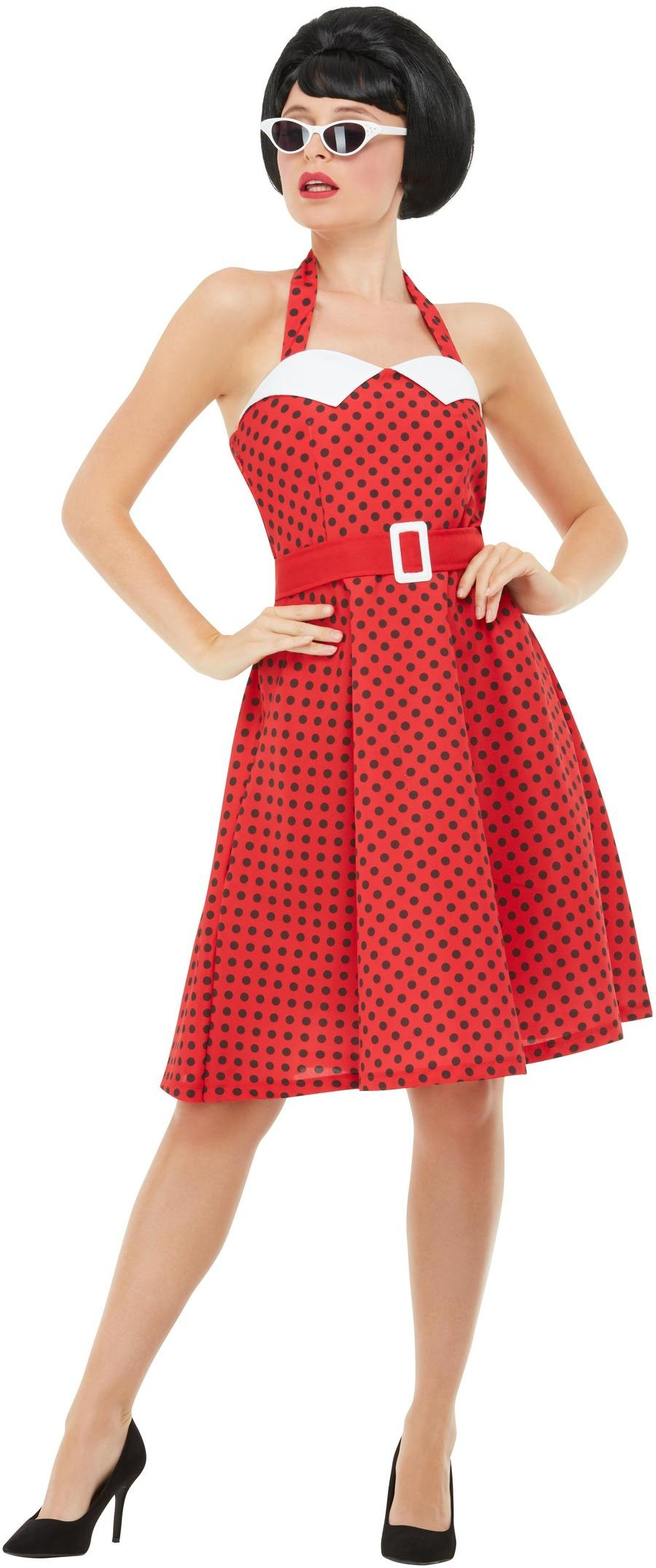 50s Rockabilly Costume Red