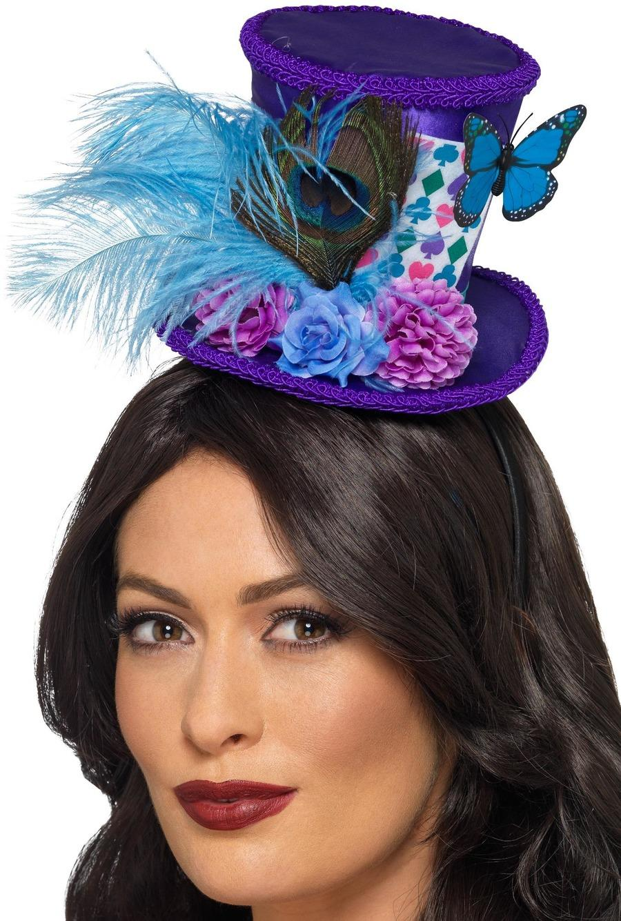 Mad Hatter Mini Feathered Hat
