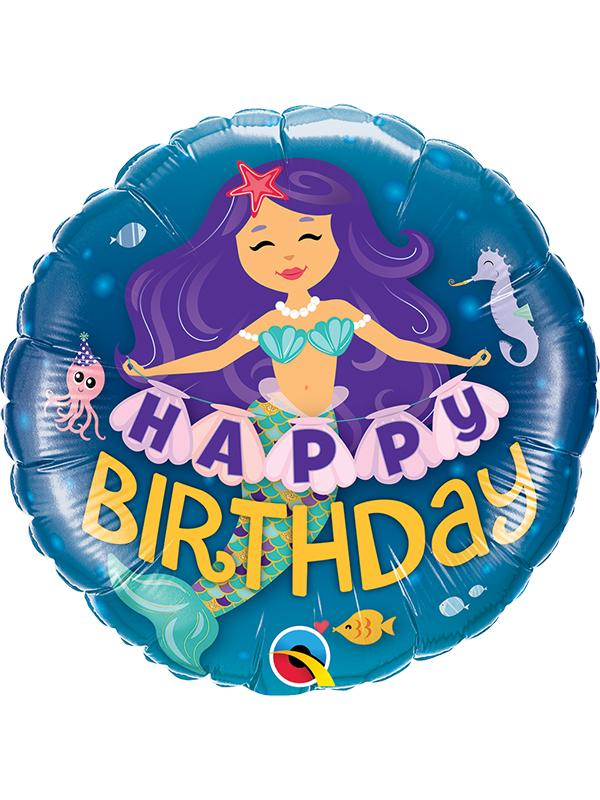 Foil Balloon Birthday Mermaid